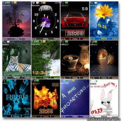 Wonderful theme for Nokia S40 Pack 15